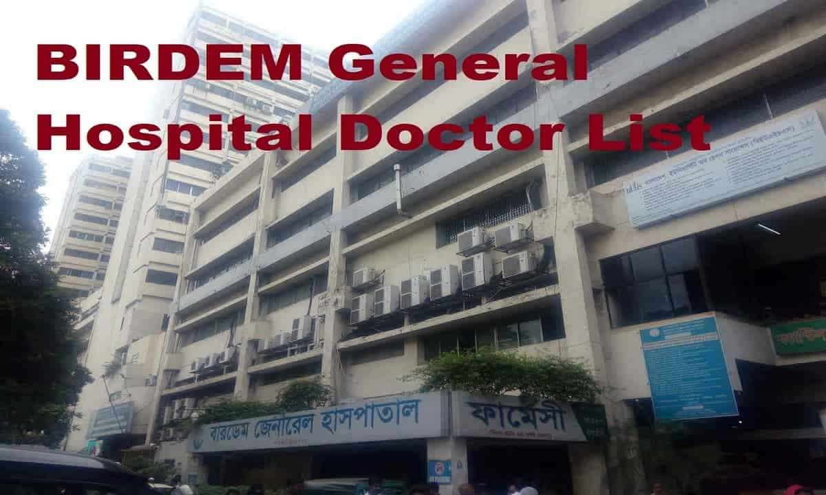 BIRDEM General Hospital Doctor List
