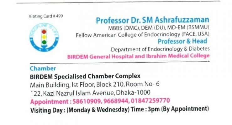 BIRDEM Hospital Diabetes Doctor List